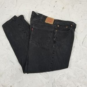 Levis Mens 550 Jeans Sz 42X32 Faded Black Relaxed
